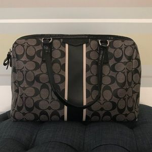 Coach bag, Black & Grey vinyl